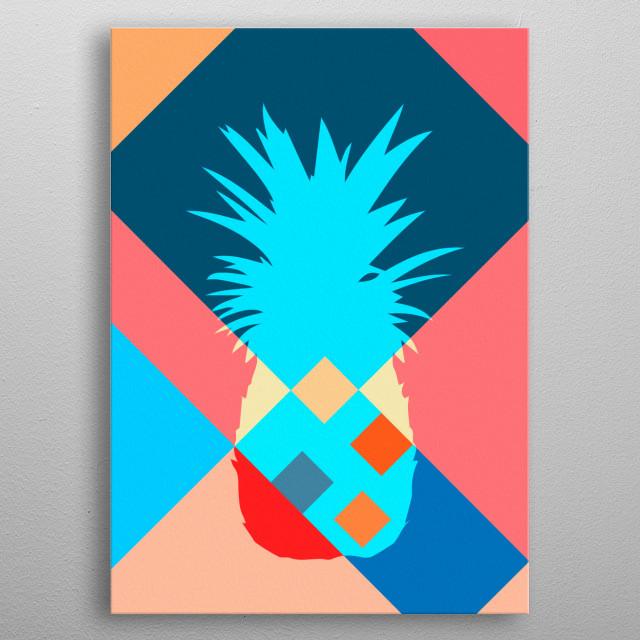 Ananas, pineapple metal poster