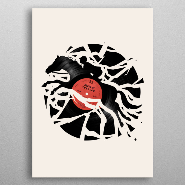 Disc Jockey metal poster