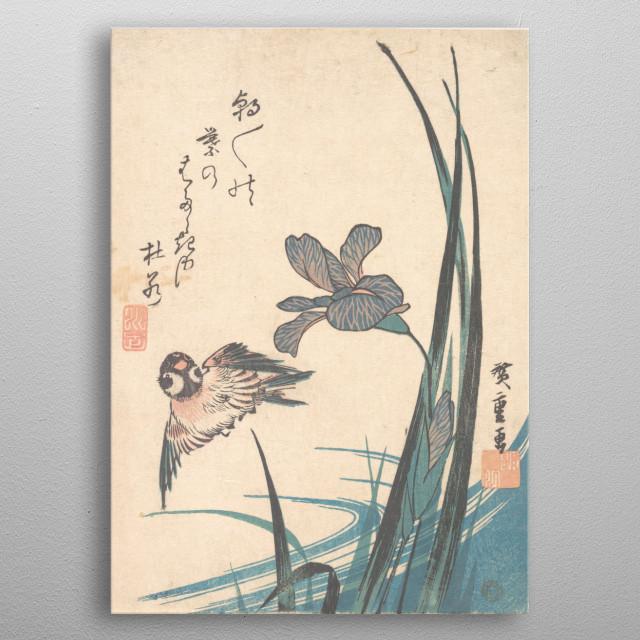Vintage Asian Woodcut metal poster
