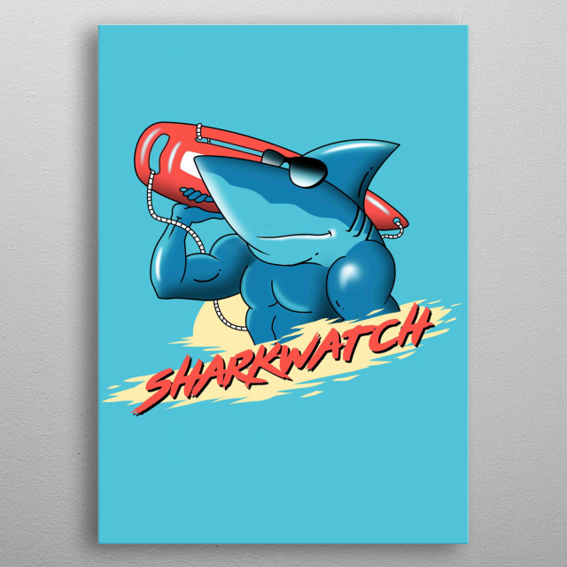 Shark Watch metal poster