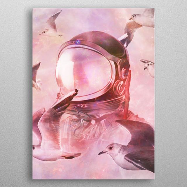 Flying Thru  metal poster