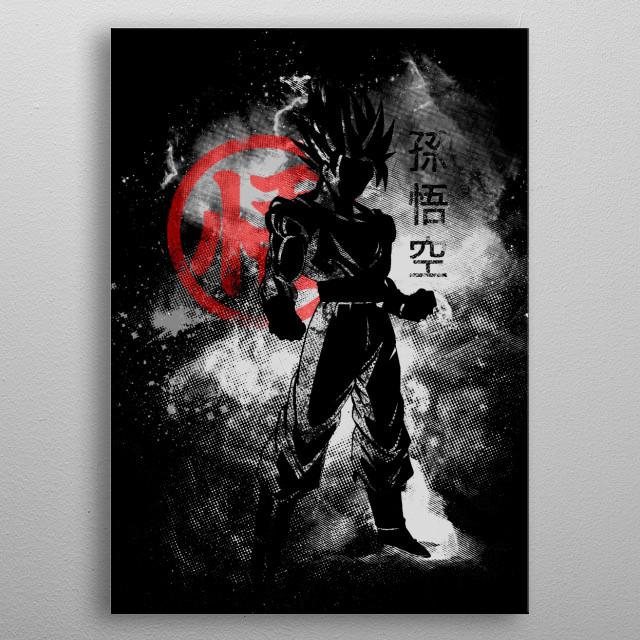 Saiyan Space metal poster