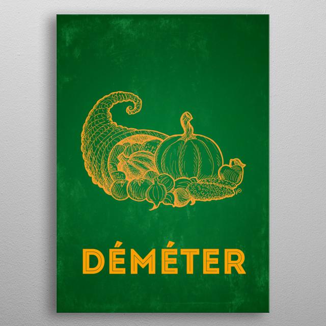 Gods of Olympus : Déméter metal poster