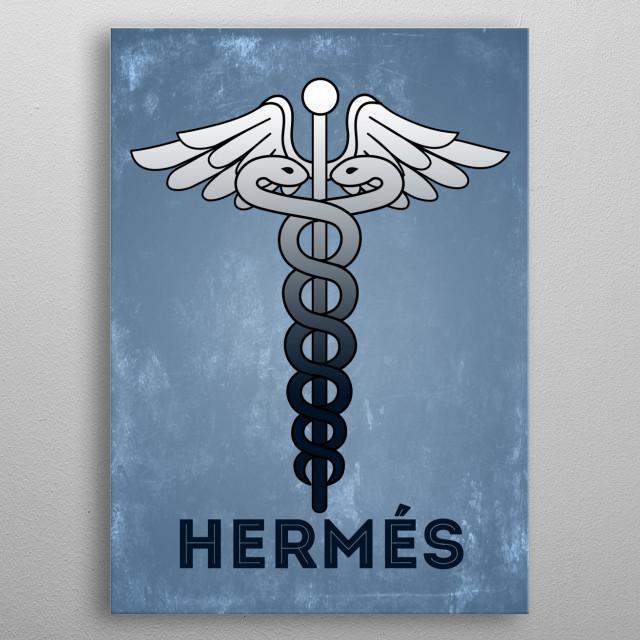 Gods of Olympus : Hermés metal poster