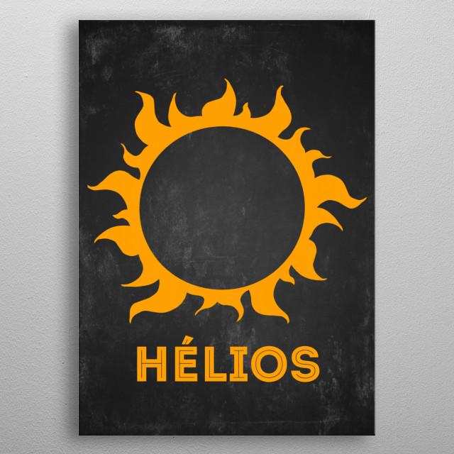 Gods of Olympus : Hélios metal poster
