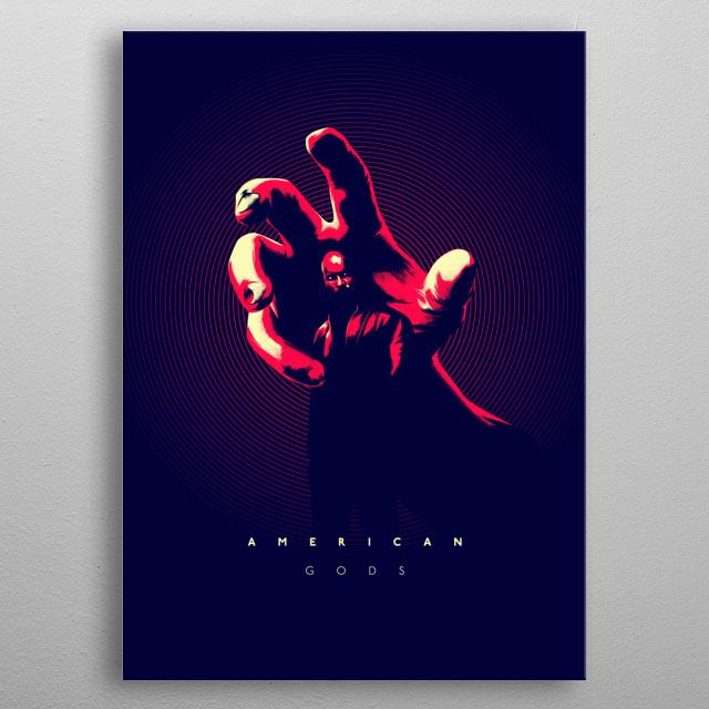 American Gods metal poster