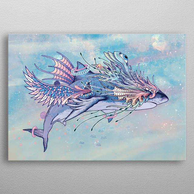 Journeying Spirit (Shark) metal poster
