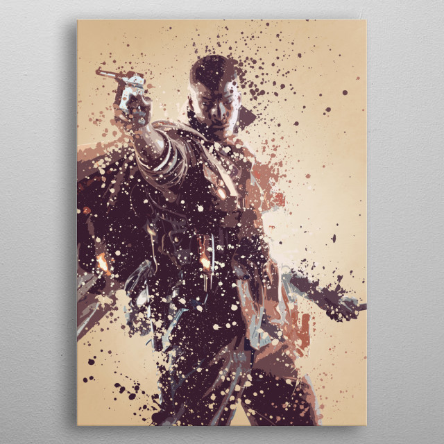 Splatter effect artwork inspired by the Battlefield universe. metal poster
