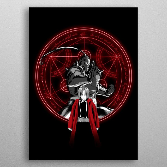 Alchemist Brothers metal poster