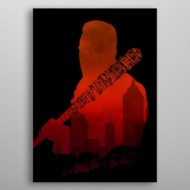The Walking Dead - Negan and his beautiful Lucille metal poster