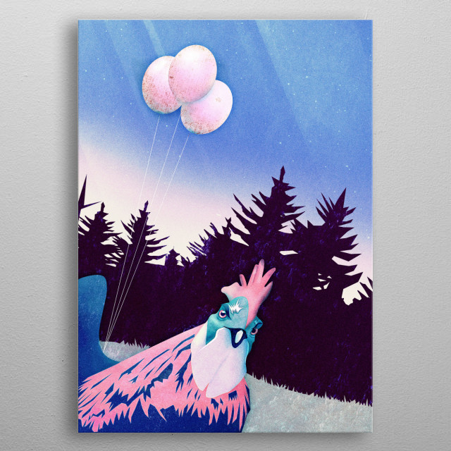 What the Hegg?! (Pink Version) metal poster