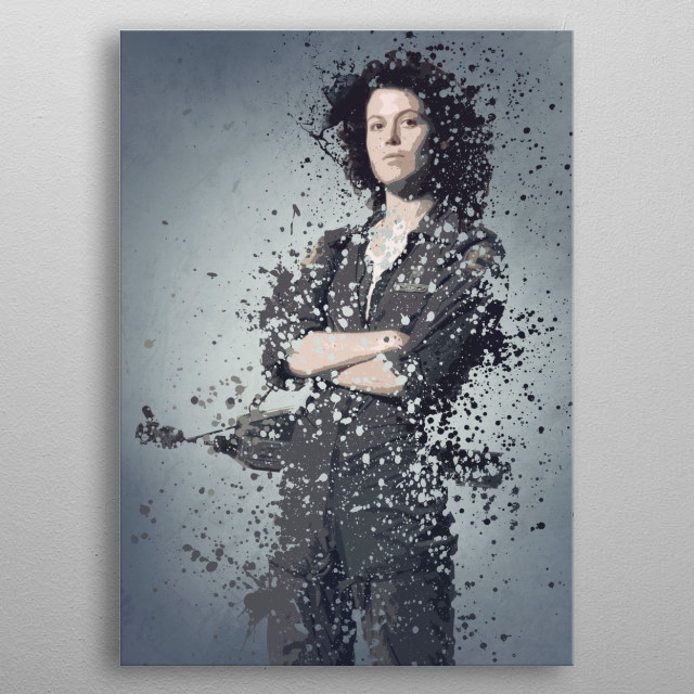 Ripley. Splatter effect artwork inspired by the aliens universe.  metal poster