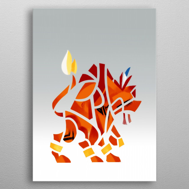 Red XIII Tribal metal poster
