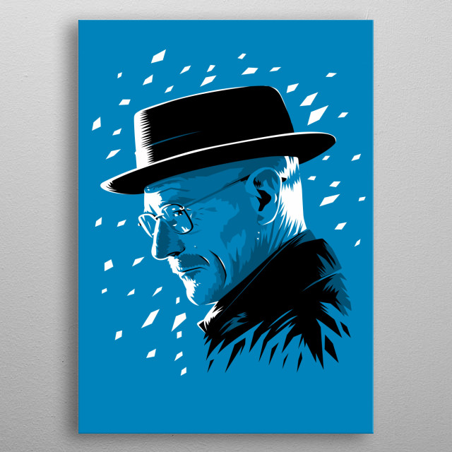 Walter blue metal poster