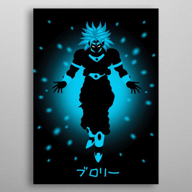 Broly Infinite Power metal poster