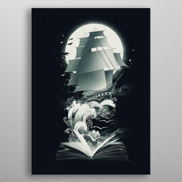 Book of Adventures metal poster