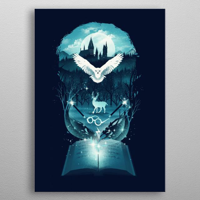 Book of Fantasy metal poster