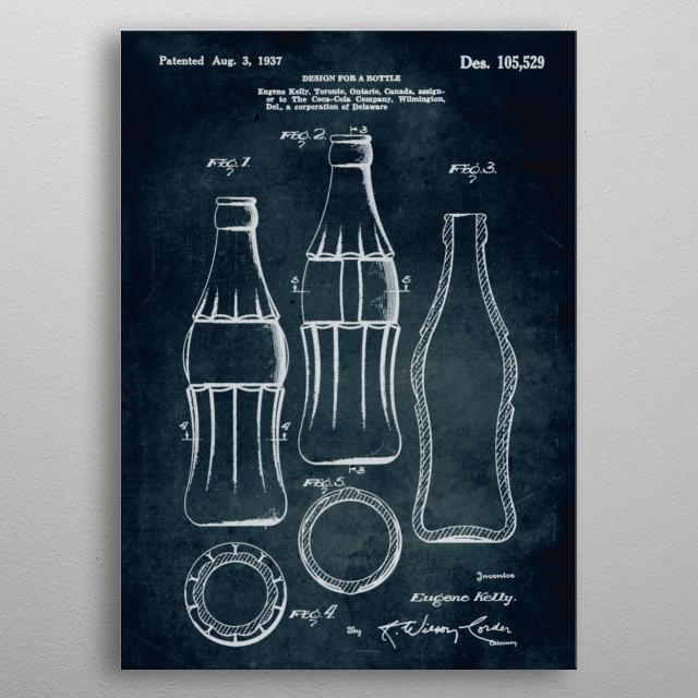 No080 - 1937 - Design for a bottle - Inventor Eugene Kelly metal poster