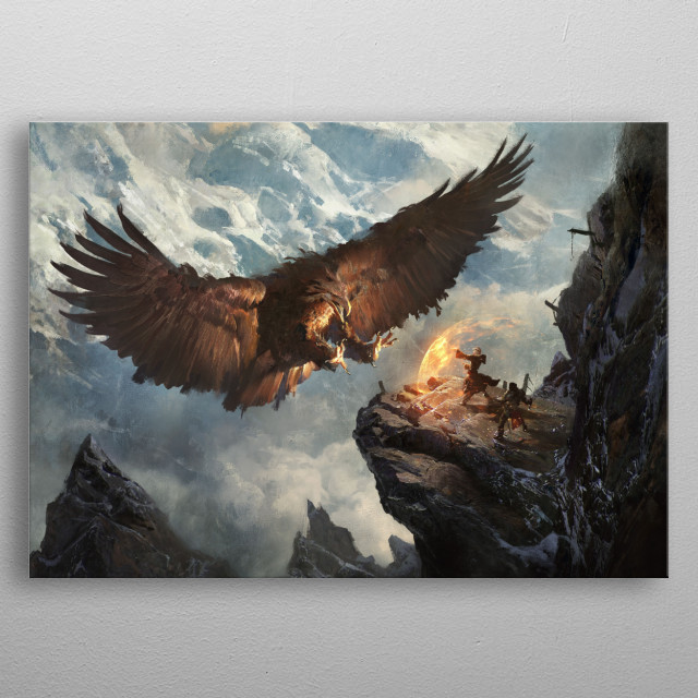 Secret Pass - Eagle Nest metal poster