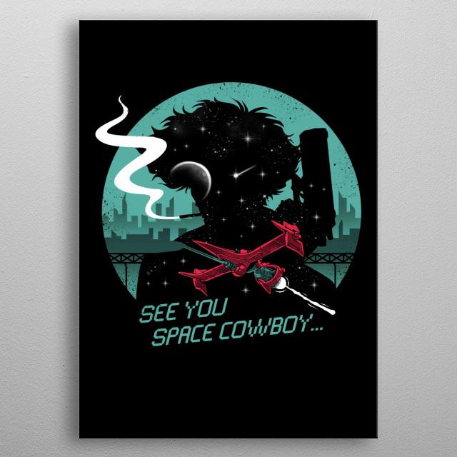 Space Cowboy metal poster