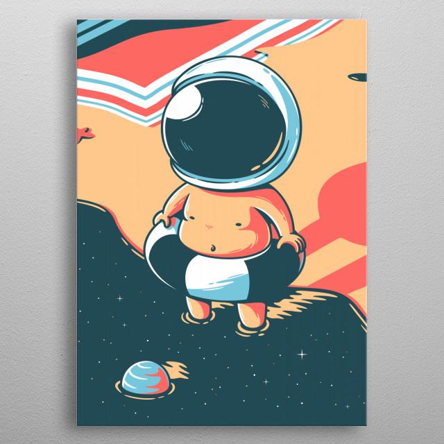Space summer metal poster