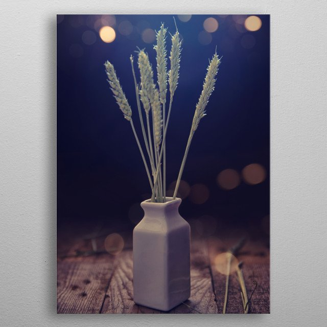 Grain with emotional light ambient metal poster