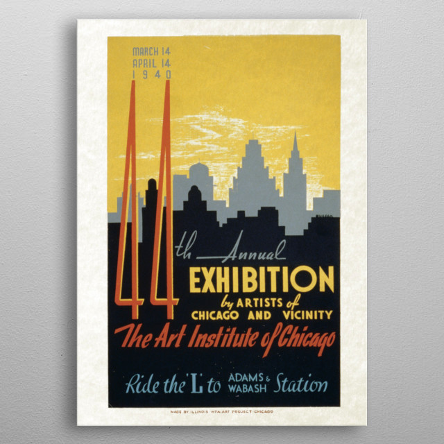High-quality metal print from amazing Vintage Art&Design Posters collection will bring unique style to your space and will show off your personality. metal poster
