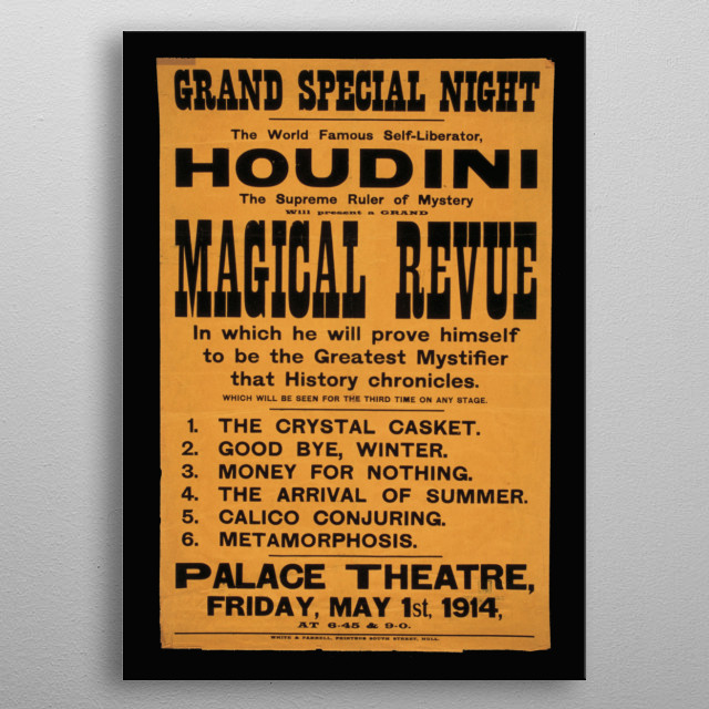 High-quality metal print from amazing Vintage Circus Posters collection will bring unique style to your space and will show off your personality. metal poster