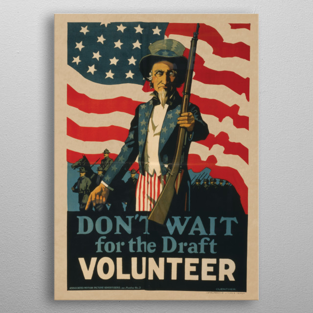 Vintage War Poster metal poster