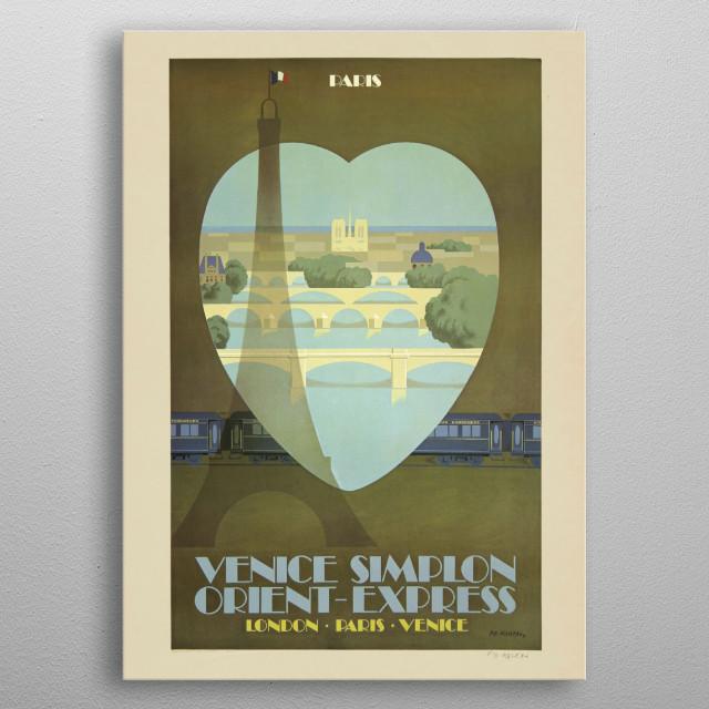 Vintage Travel Poster metal poster