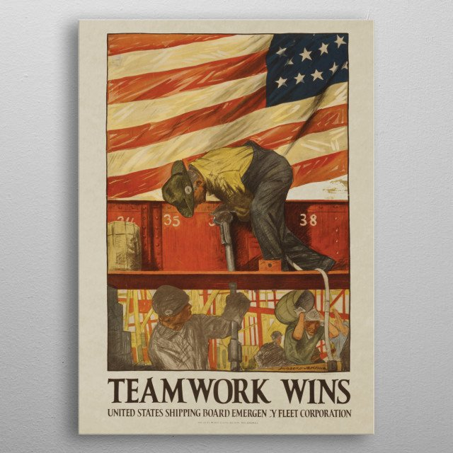 High-quality metal print from amazing Vintage War Posters collection will bring unique style to your space and will show off your personality. metal poster