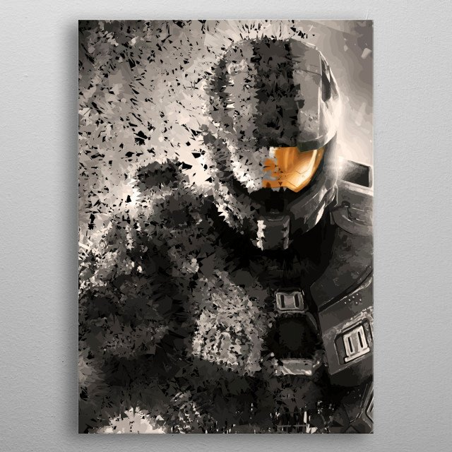Fascinating metal poster designed by Anthony  De Abreu. Displate has a unique signature and hologram on the back to add authenticity to each design. metal poster