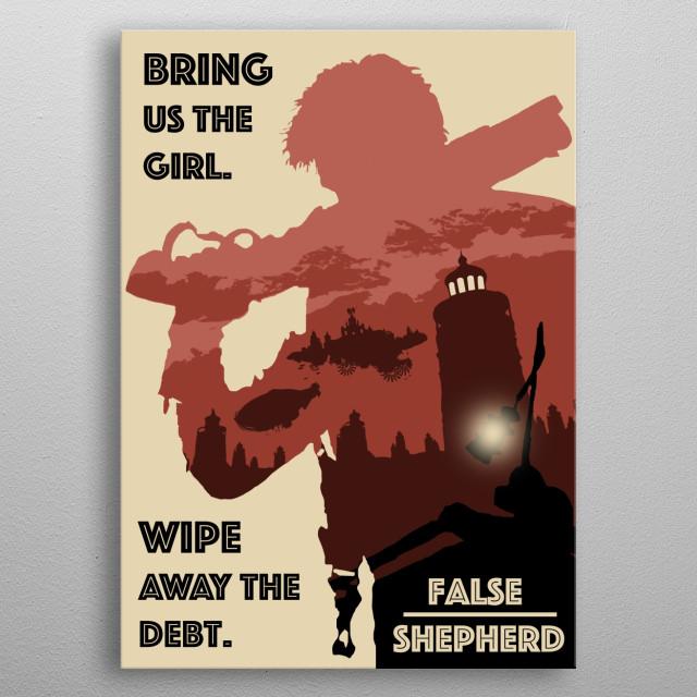 """False Shepherd"" - Designed by Duncyn Neta BioShock Infinite fan art with pop art inspirations. metal poster"