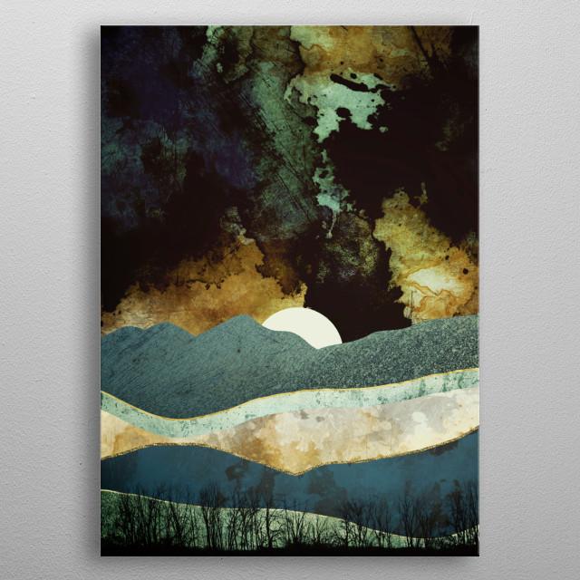 Storm Clouds metal poster