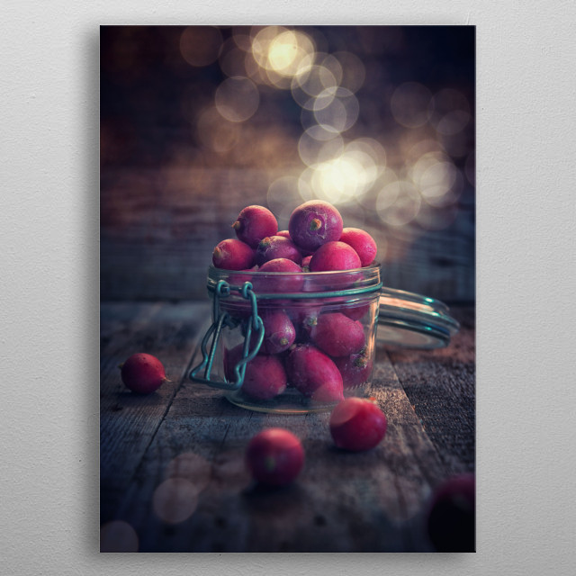 Radishes in the jar metal poster