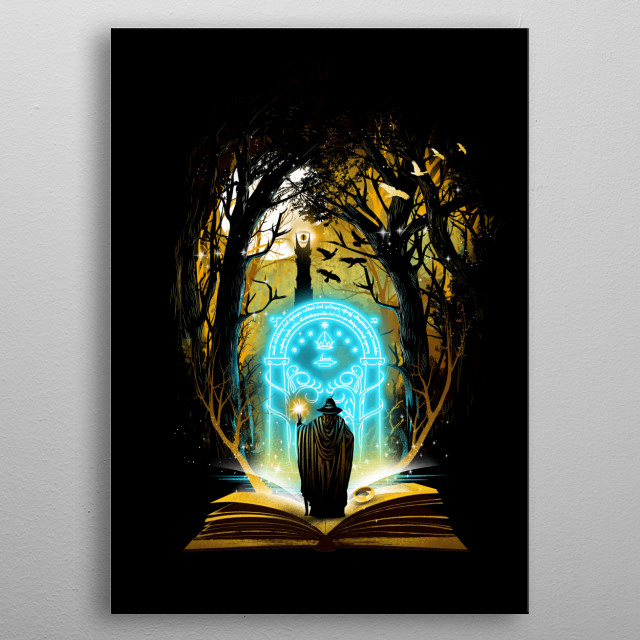 Book of Magic and Adventures metal poster