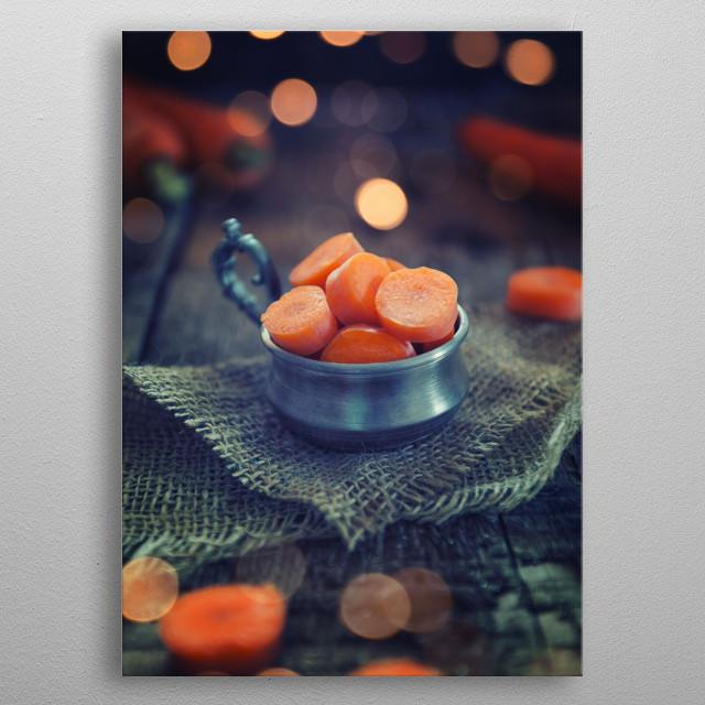 Sliced carrot metal poster