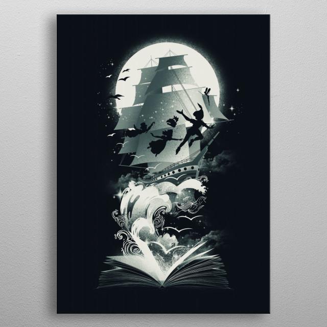 Book of Adventure in Neverland metal poster