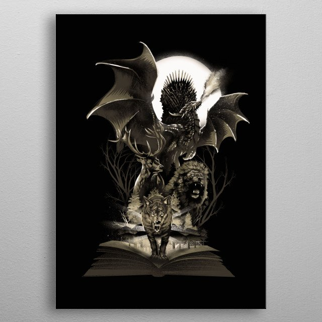 Book of Kingdoms metal poster