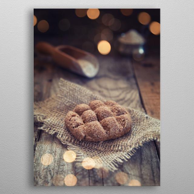 Brown bread metal poster