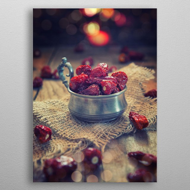 Red hot chili pepper in the jar metal poster