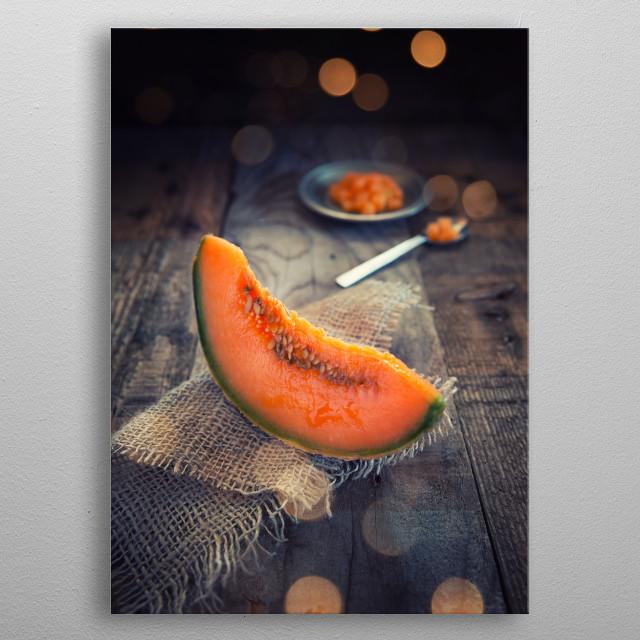 Slice of melon metal poster