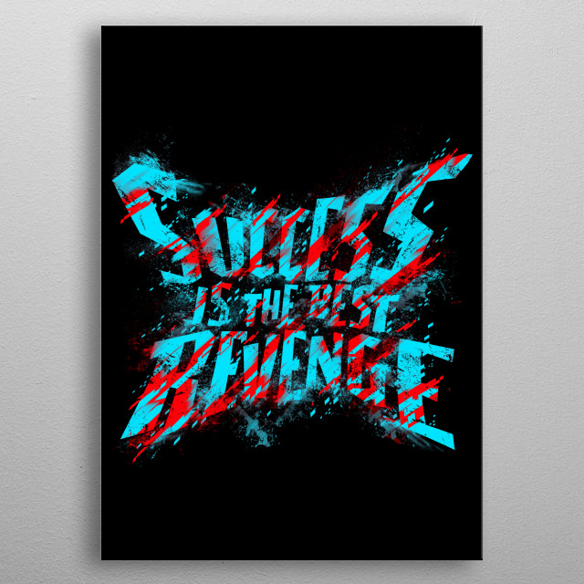 Fascinating metal poster designed by Lou Patrick Mackay. Displate has a unique signature and hologram on the back to add authenticity to each design. metal poster