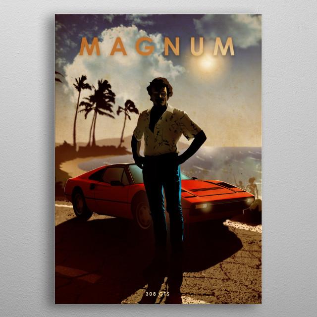 Magnum metal poster