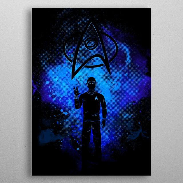 Live long and prosper Art metal poster