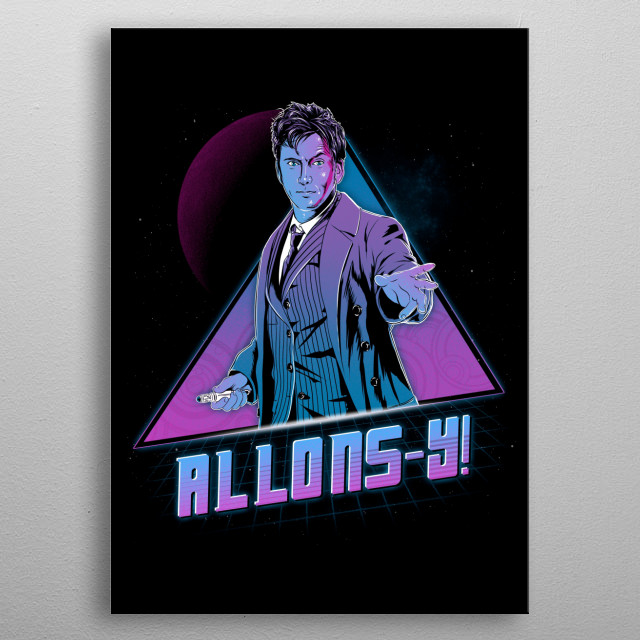 Allons - Y! metal poster