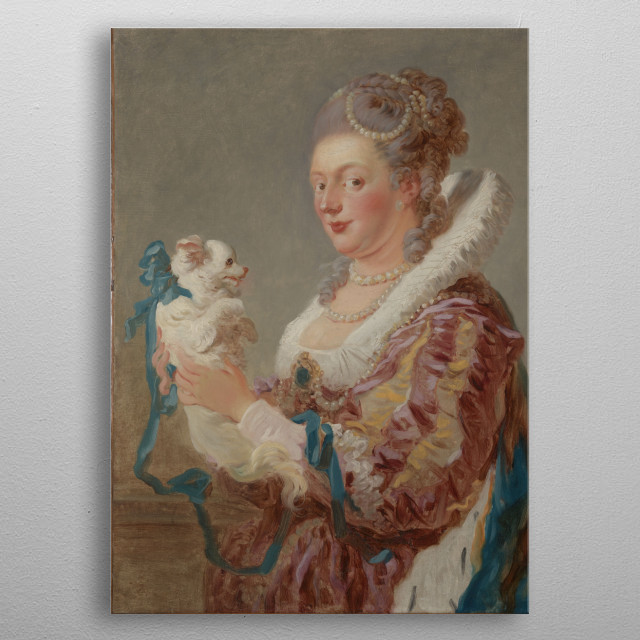 Jean Honoré Fragonard - A Woman with a Dog, ca. 1769, oil on canvas; Collection of The Metropolitan Museum of Art in New York metal poster