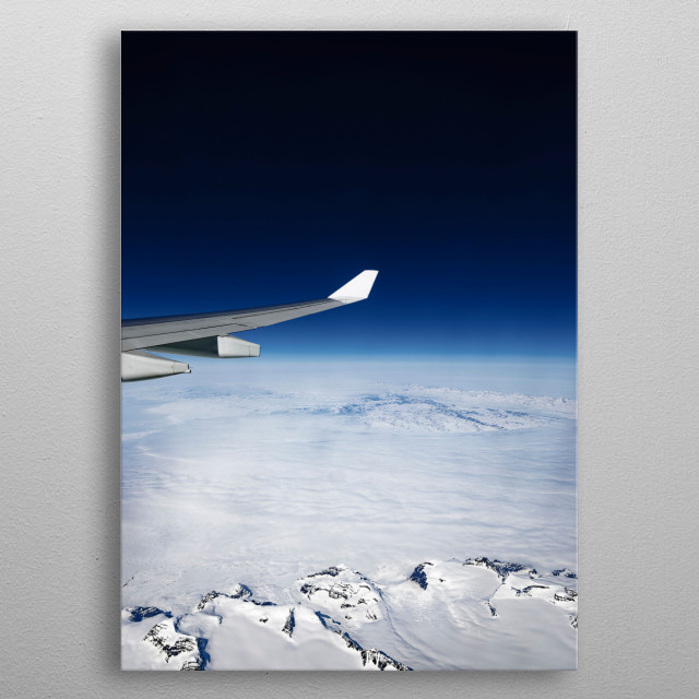 Aeroview metal poster