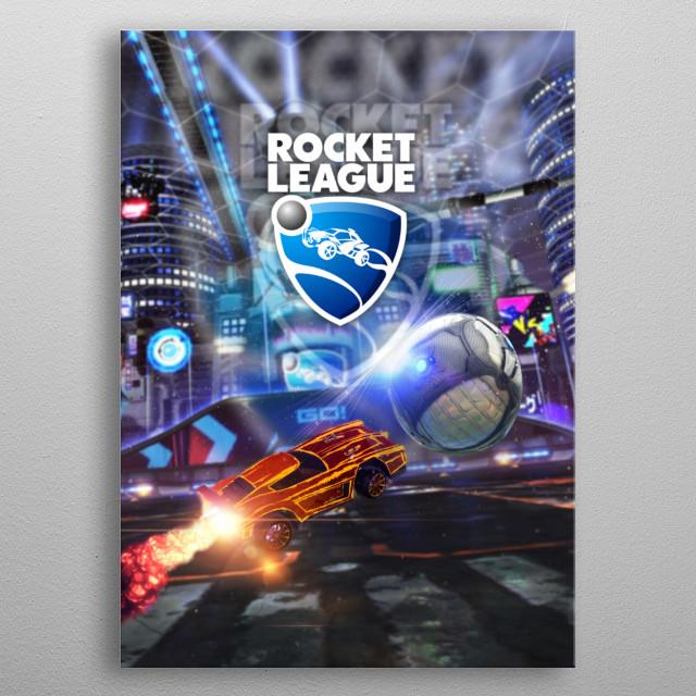 Rocket League metal poster