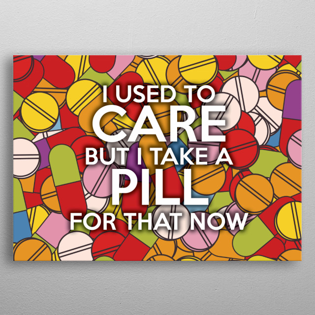Cool, trendy and fun wall art that tells it how it is! metal poster